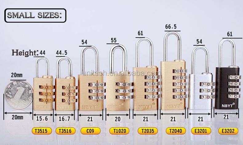 35mm 4 Digit new brass padlock,combination padlock