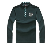 mens softtextile factory embroidered design polo t shirt