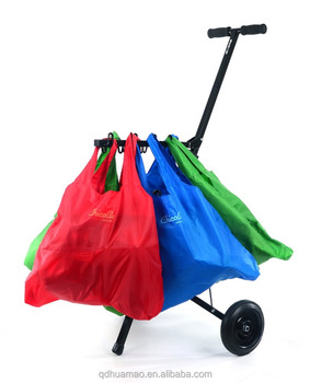 Portable Folding Supermarket Shopping Cart with hook