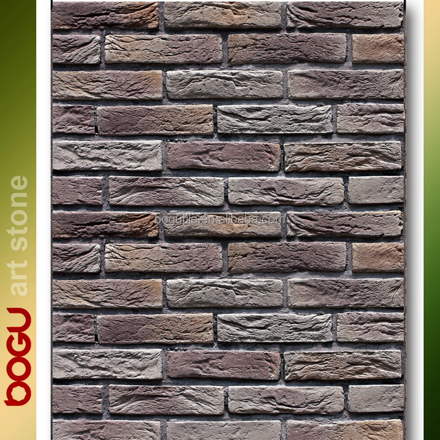 Exterior wall tiles outdoor stone artificial design pattern concrete based clinker like veneer handmade rustic wall stone