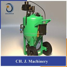 Vapor dustless blasting machine for car restoration