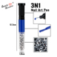 3 in 1 quick dry longwearing fashion nail art pen makeup with needle nailpolish and crystal decoractions
