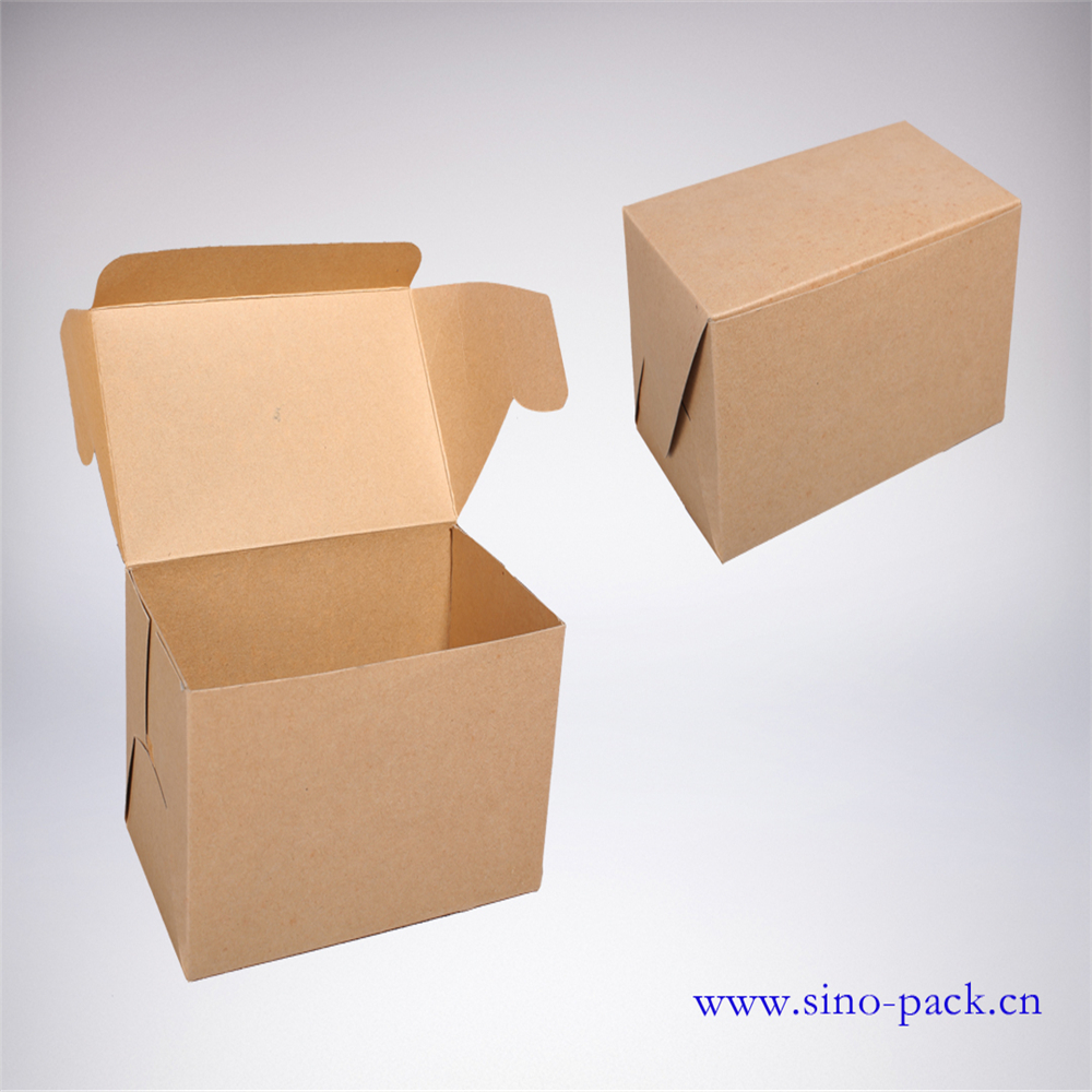 gift paper box hot stamping customized kraft paper box