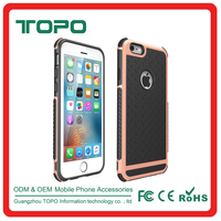 Wholesale PC hard frame +TPU soft back cover anti-skid plastic Shockproof Armor mobile phone case for iphone 5 5s se 6 6s plus