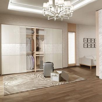 2014 New Design Latest Decorative Veneer Sliding Mirror