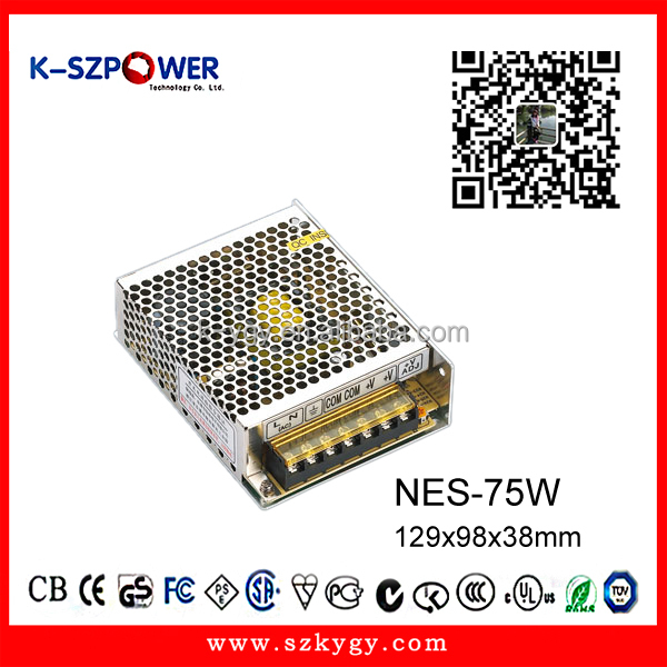NES-250W compact efficient type switching mode AC DC power supply 12V20A