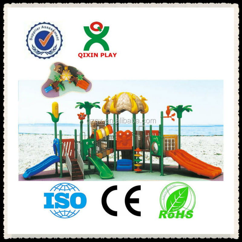 Outside ground cheap outdoor slides/childrens garden toys/play centre kids products/ QX-11029B