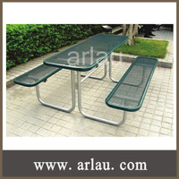 Arlau TB18 Durable powder coated outdoor setting steel picnic table chairs