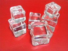 Paypal payment acrylic ice cube / Plastic ice block CE/FDA