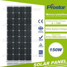 mono 170w 160W 150w PV Solar Panel price for 12Volt Camping Boat Battery
