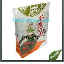 factory selling Elegant printed doypack aluminum foil lined snack red dates food pouch/ plastic dried food bag