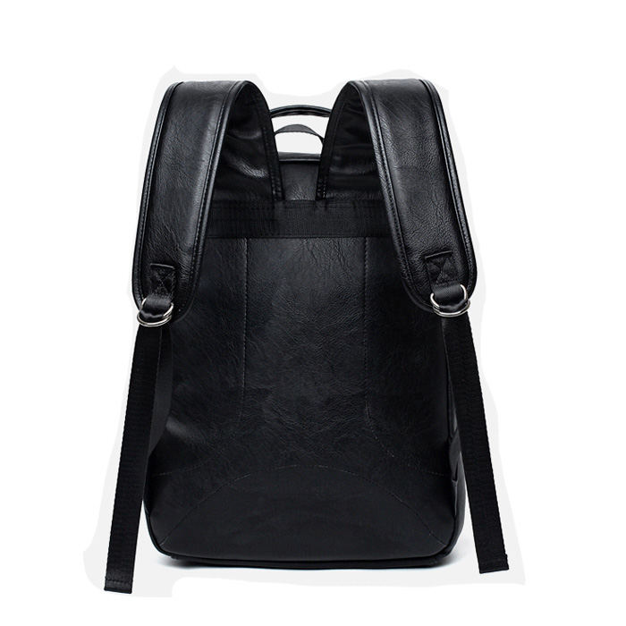 Top selling business laptop travel backpack mens pu leather backpack