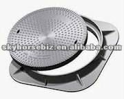 D400 Hinged range with optional locking.EN124 manhole covers trench grating, gully cover, casting iron manhole cover