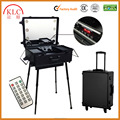 Trolley cosmetic case with LED