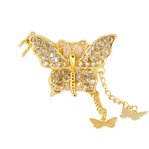 Crystal gold butterfly shape usb 2gb 4gb 8gb 16gb usb flash drive crystal