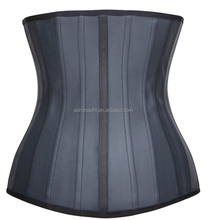 Sample Free Black Latex Reducing Slimming Waist Trainer Corset