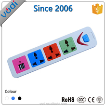 New electrical product wire socket with on/off switch 3 outlet power strip