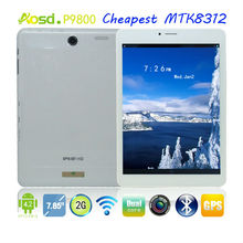 super cheap laptops dual sim mobile phone with voice changer MTK8312 1.2ghz cpu bluetooth FM 7.85 inch tablet P9800