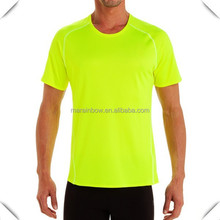 popular high quality plain safety green t shirts design with raglan sleeve for men custom made hot sale in USA