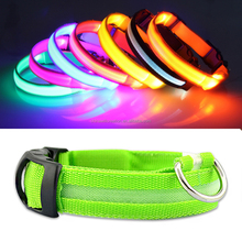 Night safety warning LED Dog Collar, USB Rechargeable Light Up Dog Collar with 3 Flashing Modes