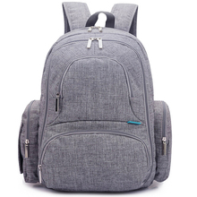 Fashion outdoor travel style polyester mother baby diaper backpack bag