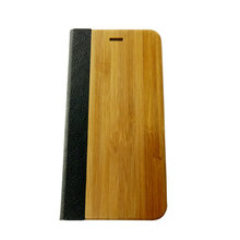 China supplier wallet leather phone case hard bamboo mobile phone shell accessories for apple iphones
