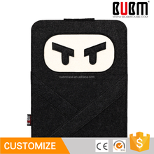 BUBM 7.9 inch Wool Felt Cute black Ninja design shockproof Tablet case