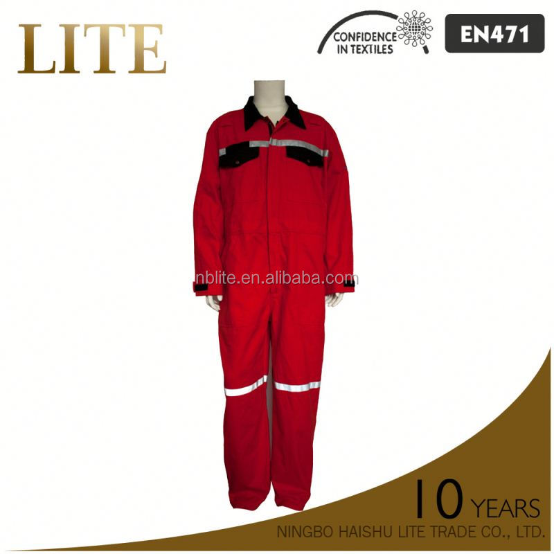 reflective safety cotton/mylon anti flame coverall