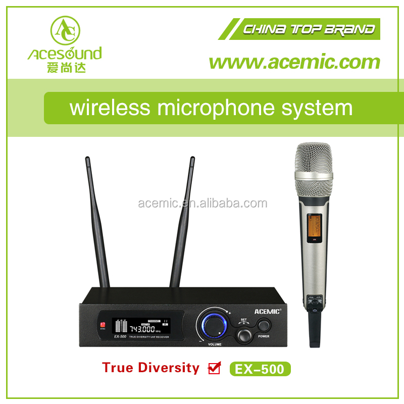 Professional FM UHF wireless microphone system for stage and karaoke long range 200 meters lapel headset condenser mic optional