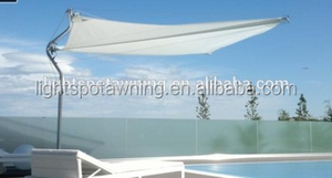 Swimming pool triangle sun shade sail stainless steel electric awning