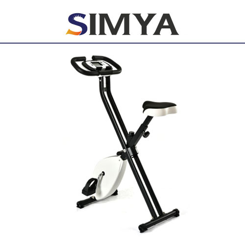 Fitness Equipment Folding Magnetic Upright Bike 8-levels Resistance