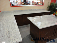 Man Made Quartz Artificial Grey Kitchen Bathroom Display Surface Countertop
