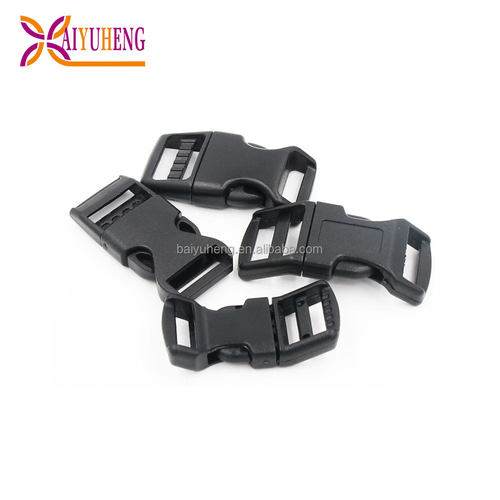 colored heavy duty plastic helmet quick side release buckle