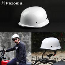 White Motocross Helmet Vintage Helmet German Half Face Helmet Motorcycle For Chopper, Cruiser, Touring, Scooter and Harley Biker