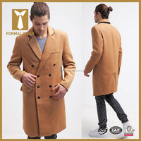 Double Breasted mens 100% cashmere winter coat