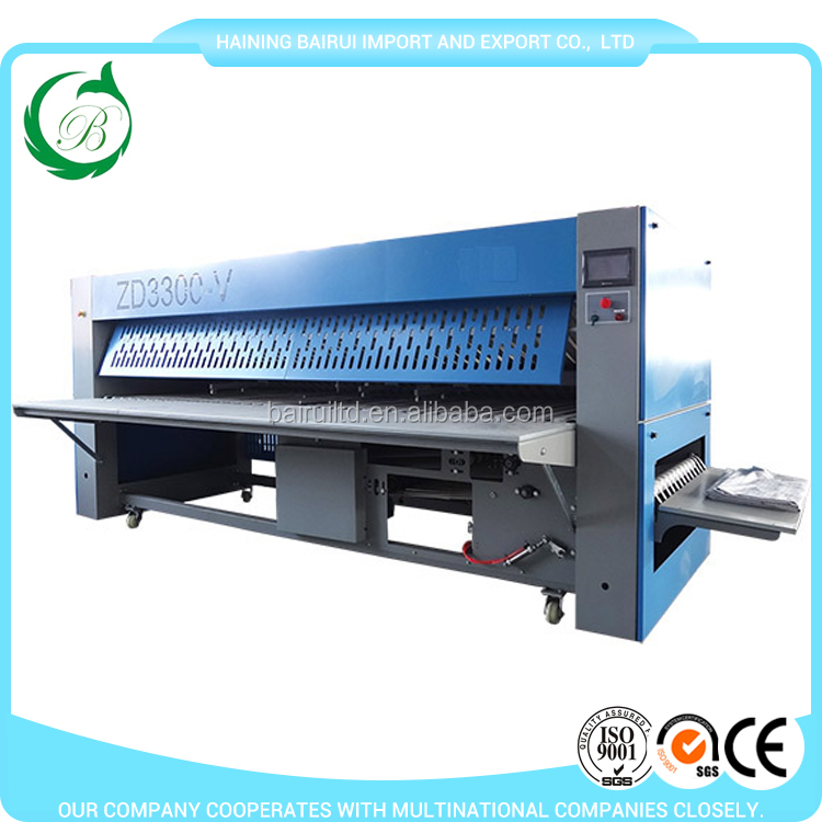 Safety protection system for daily use table cloth folding machine