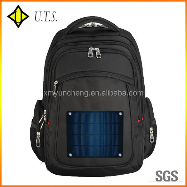 outdoor portable solar backpack charger bag for PC and mobile phone