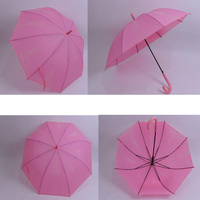 High quality of transparent rods advertising umbrella and you can print the logo
