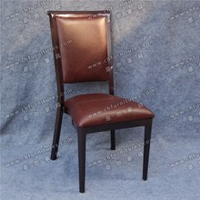 Elegant brown high back hotel banquet lobby chair parts YC-E162