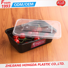 China wholesale microwavable hermetic disposable plastic rectangle food container with best price