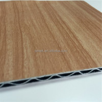 High quality fire resistant wood grain wall panel / metal wood grain decorative sheet