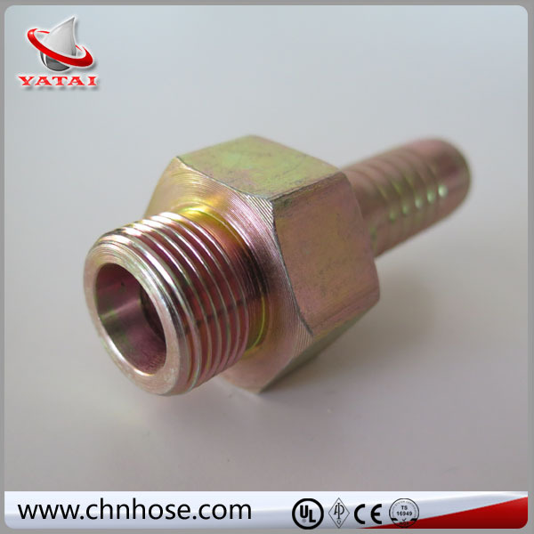 Factory produced quick replacement hydraulic crimp connector jointing