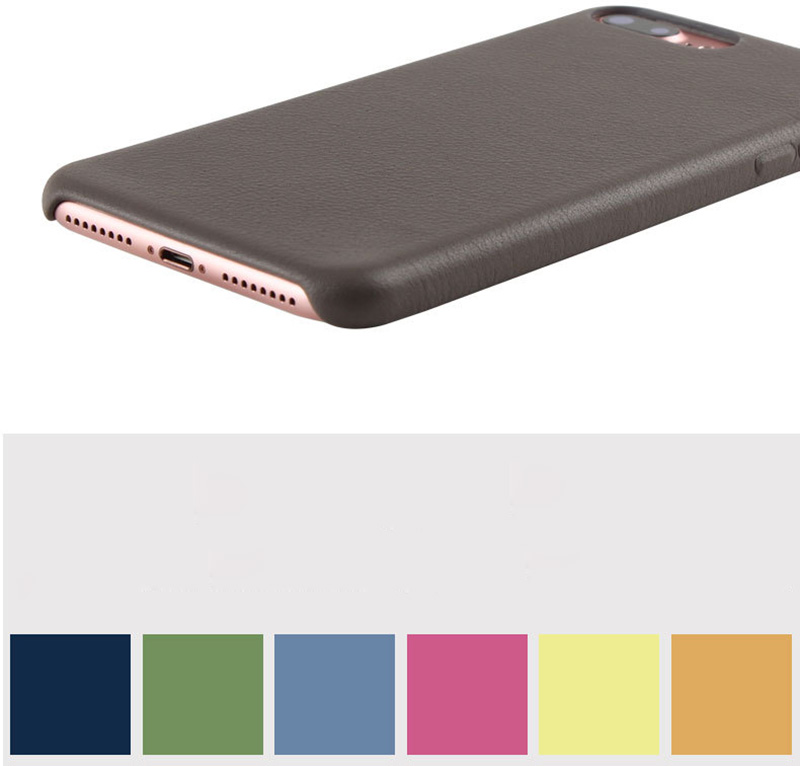 New Year Arrival 3 Colors Luxury Ultra-thin Pure Leather Case for iPhone 7 7 Plus