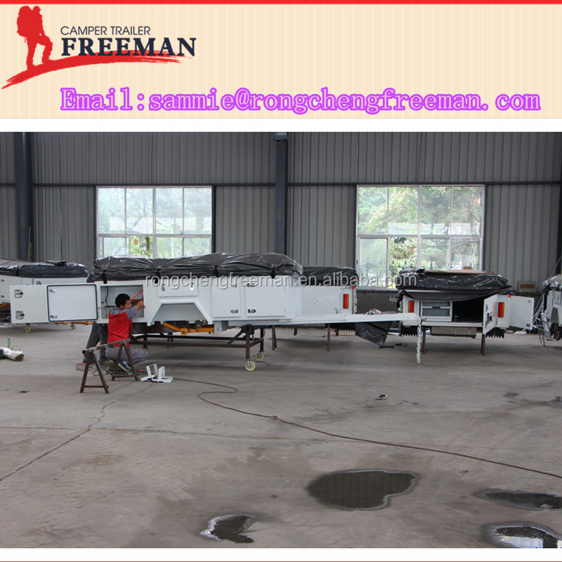 Rongcheng Extended Soft Floor Folding Tent Used Camper Trailers