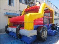 funny inflatable bus /inflatable jumping bounce house for sale