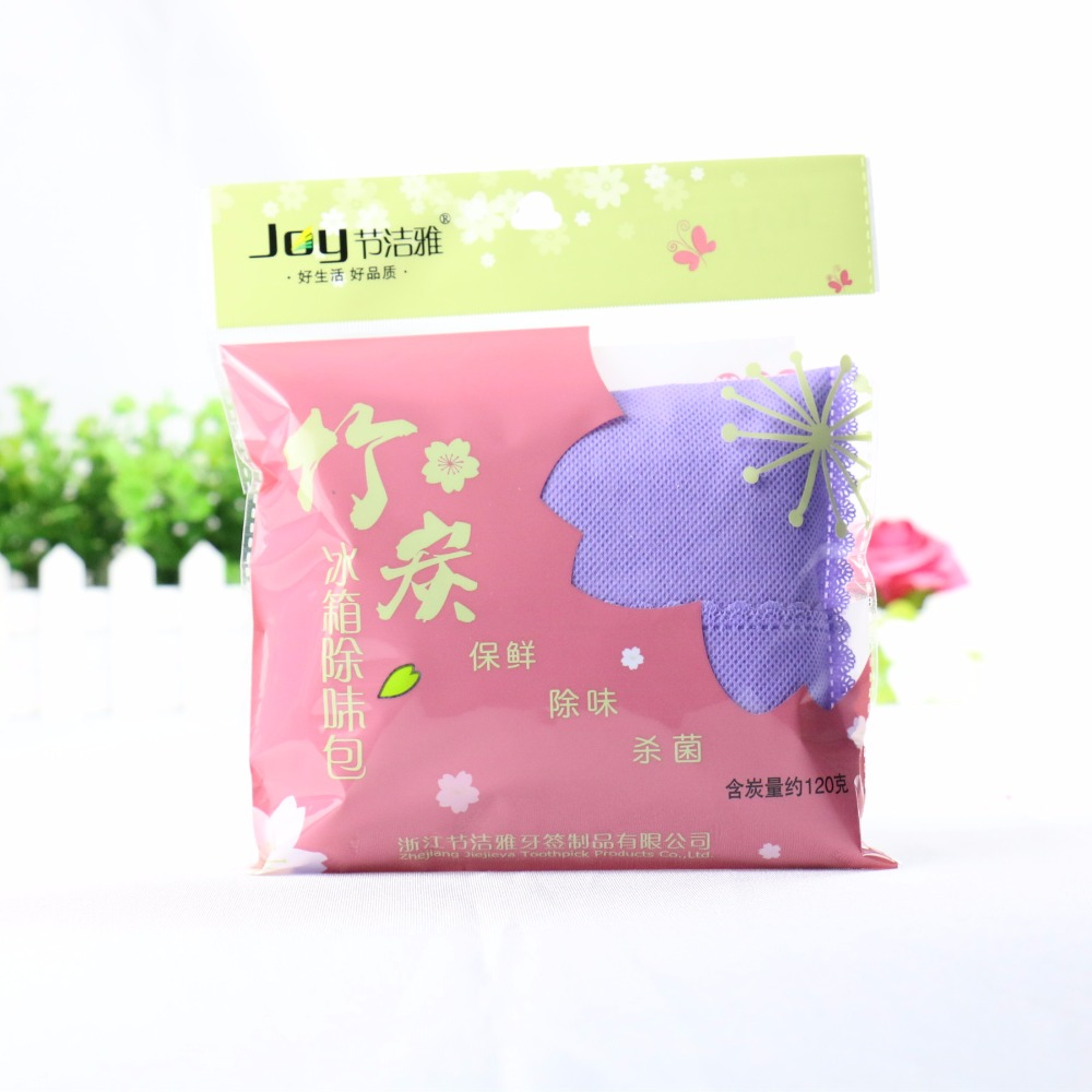Refrigerator antiseptic odor absorber bag bamboo charcoal
