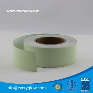 Outdoor use solvent printing Photoluminescent film