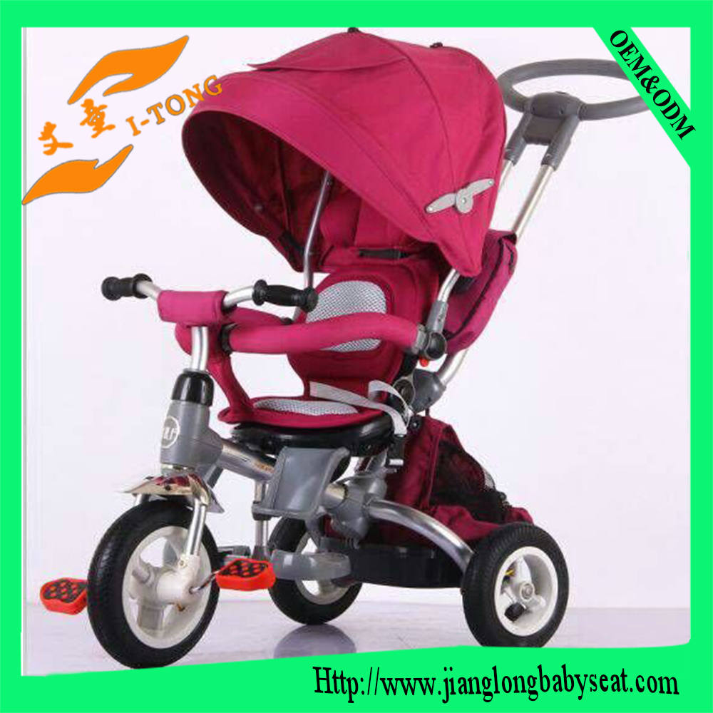 Baby/Kids tricycle child rubber wheel pedal tricycle