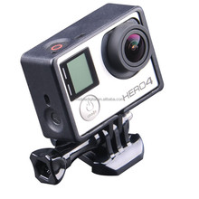Gopros Accessories Set Housing Frame Mount + Go Pro Screw + Quick Buckle For Go Pro Hero3 3+ 4