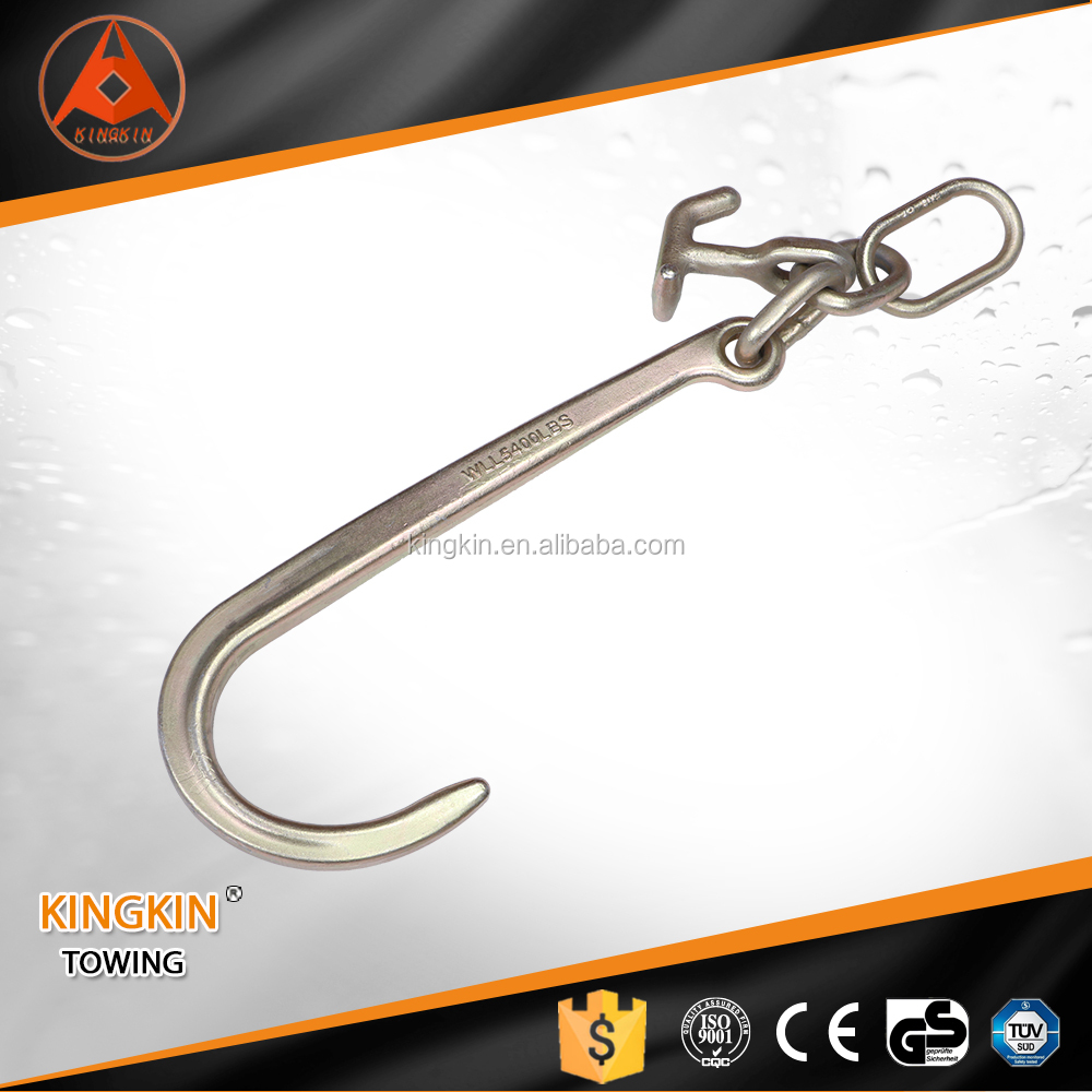 "Towing G70 Galvanized Forged 15"" J Hook and 90 T-J Hook with Link"